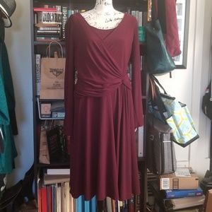 Jones New York maroon dress sz 16